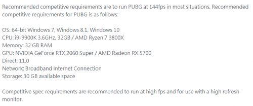 RTX 2060 Super入选吃鸡官方标配,144FPS成竞技游戏趋势