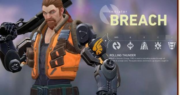 valorant无畏契约特工Breach技能一览 特工Breach介绍