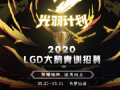 刀鋒電競聯合LGD大鵝進行青訓選拔,光羽計劃得到認可!