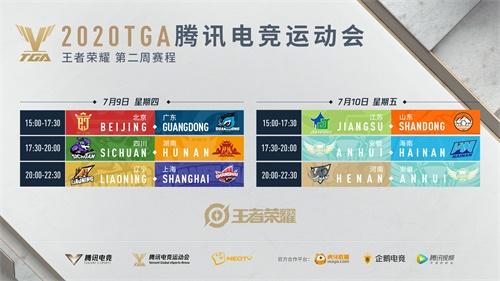 2020 TGA腾讯电竞运动会省队赛7月第二周小组赛打响