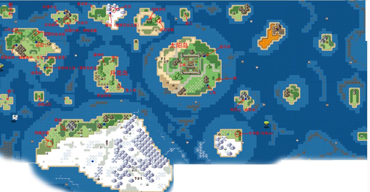 大千世界地图介绍 大千世界游戏全地图一览