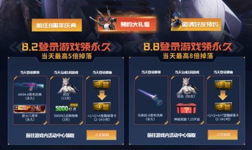 回归8!逆战8周年 惊现最强庆典福利