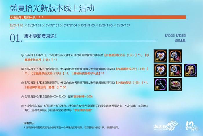 《龙之谷》今日更新,开发团队送顶级壕礼!