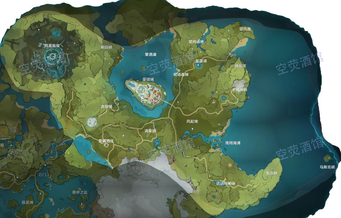 原神平民采礦攻略 蒙德城水晶礦和白鐵礦分布位置一覽
