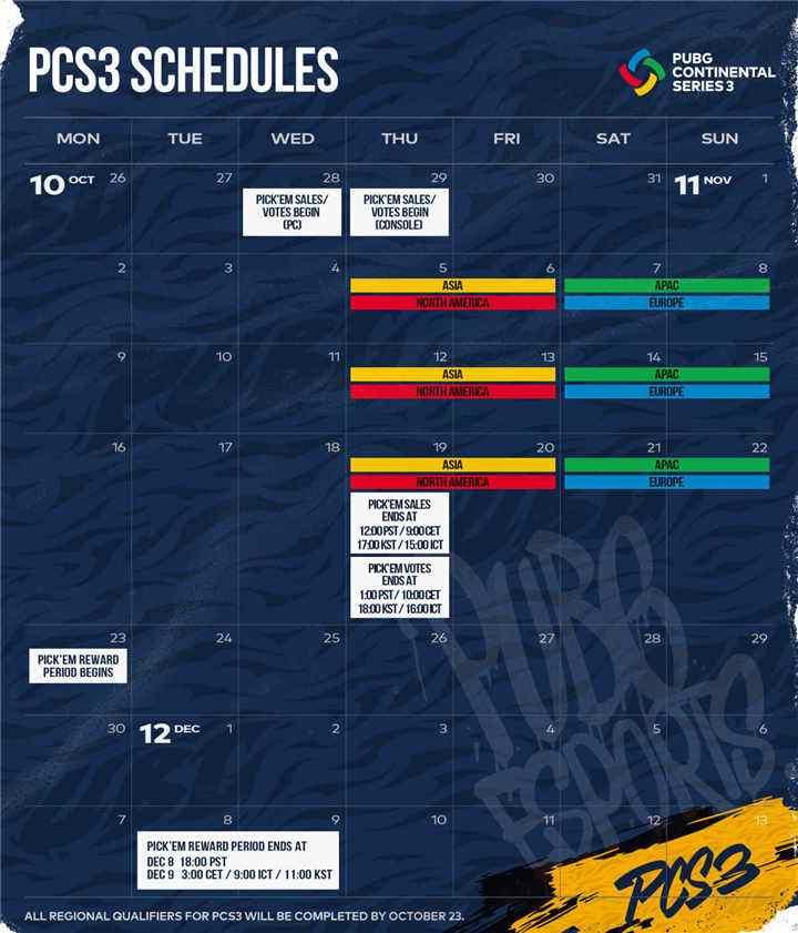 PCS3洲际赛开赛在即,强队集结打响年度收官战