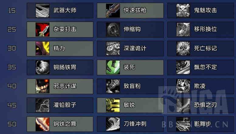 <b>魔兽世界9.0狂徒贼天赋一览 暗影国度狂徒贼天赋介绍</b>