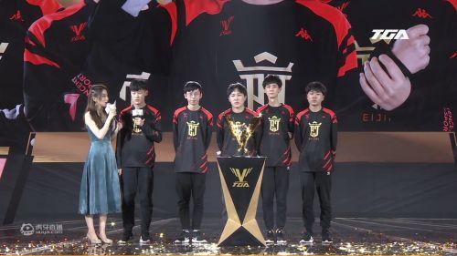 2020TGA电竞运动会王者荣耀冬季赛 北京电竞XYG3比1翻盘逆转拿下冠军