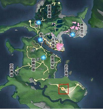 天谕手游草场具体位置在哪里找 瀑布洞穴具体坐标分享