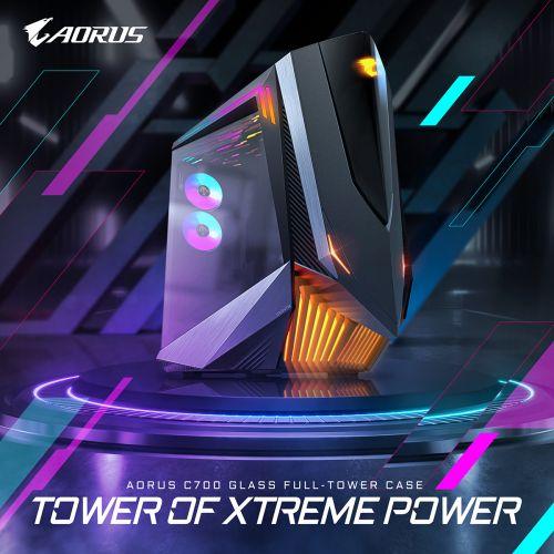 技嘉強势推出旗舰级AORUS C700 GLASS全塔式电竞机箱