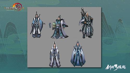 《剑网3缘起》首测即将结束 回味老五门初版服饰原画