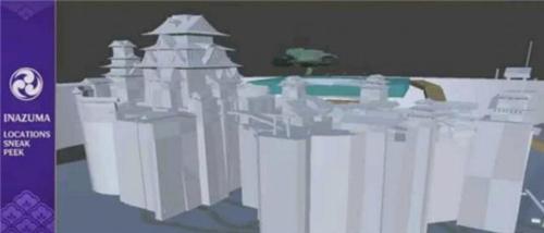 原神稻妻地图模型曝光 稻妻地图3d模型