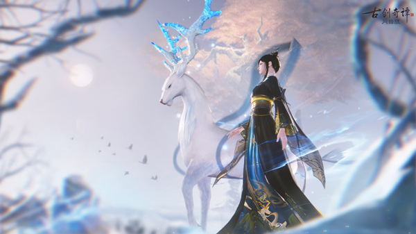 """《古剑奇谭OL》九色鹿主题新衣""""画中缘"""":画中奇缘,绘梦敦煌"""