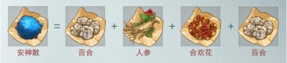 江湖悠悠安神散合成配方 安神散制作方法