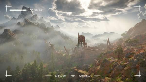 《地平线:西部禁域》风景欣赏 群山巍峨、光影绚丽