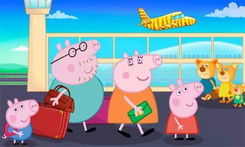 小猪佩奇去坐飞机