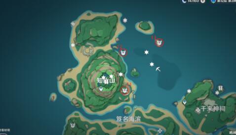 原神鹤冠岛世界挑战点位置一览 世界挑战点在哪